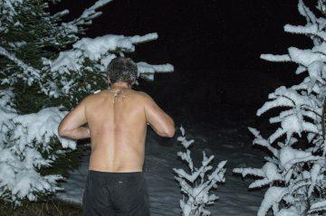Sauna, otužovanie sa snehom