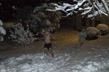 Sauna, otužovanie snehom