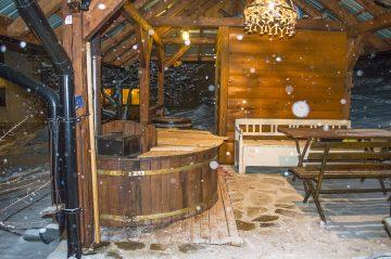 Sauna pohľad z juhu atmosféra