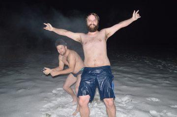 Saunovanie, sauna v zime a zábava pri saunovaní