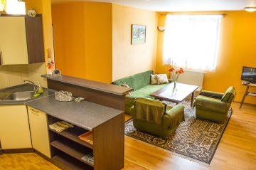 Apartmán spoločenská miestnosť apartmánu Ubytovanie Naďa