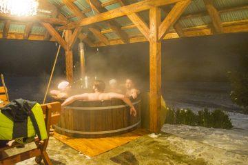 Fínska kaďa, pobyt vo vyhriatej kadi pri -24°C
