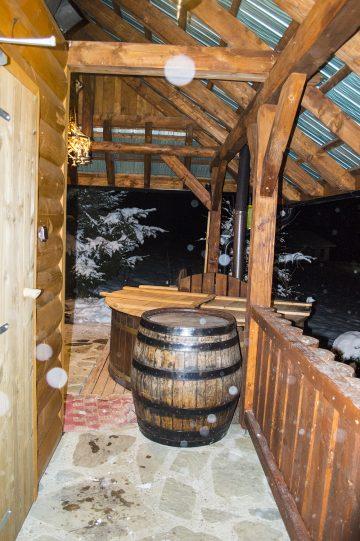 Sauna, servírovací sud