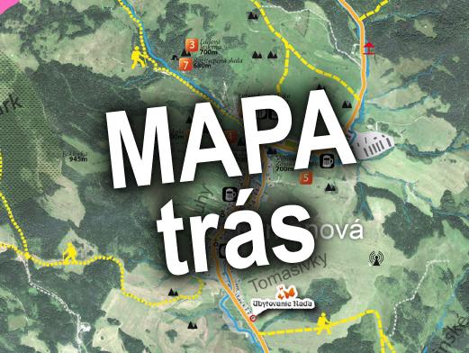 Mapa turistických trás a zaujímavých miest v Litmanovej